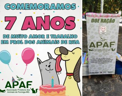 flyer comemoração 7 anos apaf