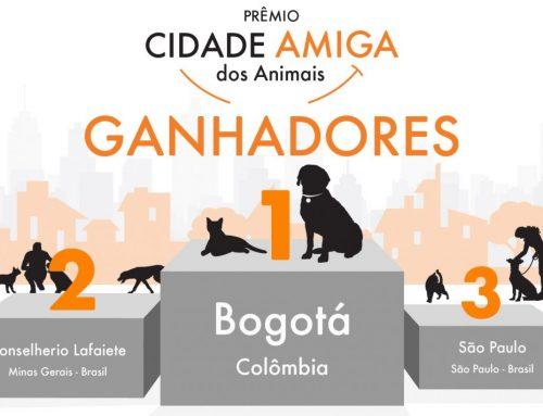 """Conheça os ganhadores do Prêmio """"Cidade Amiga dos Animais"""""""